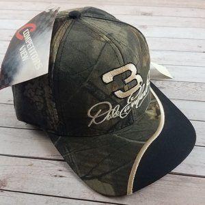 New VTG 90s Dale Earnhardt Sr Camo Snapback Hat